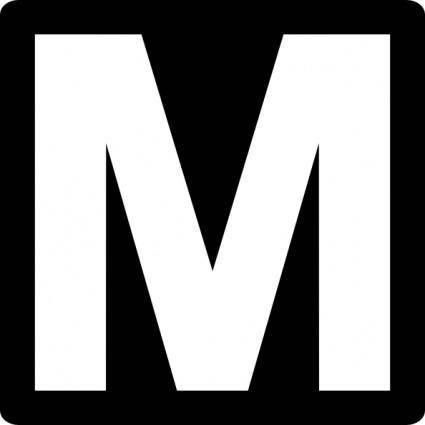 free vector Metro Road Sign clip art