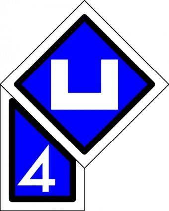 Dutch Railway Sign clip art