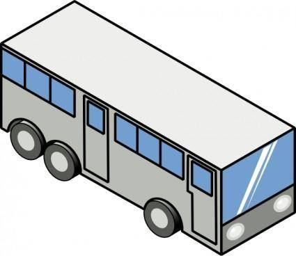 free vector Bus Isometric Icon clip art
