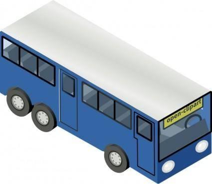 Blue Bus clip art