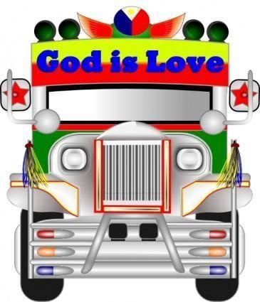 free vector Jeepney clip art