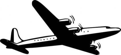 Propellor Airliner  clip art
