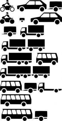 free vector Vehicles Silhouette clip art