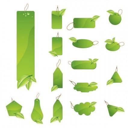 free vector Green tag vector
