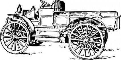 Old Light Truck clip art