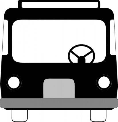 free vector Bus Front View clip art
