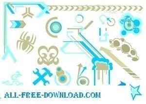 free vector Mixed Vectors