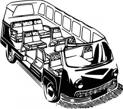 free vector Minivan clip art