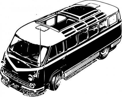 free vector Tourist Minivan clip art