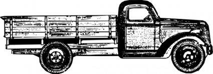 Old Style Truck clip art