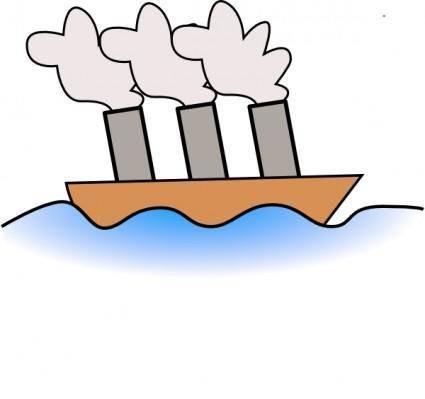 free vector Steamer Boat clip art