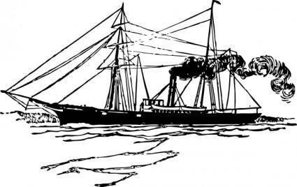 free vector Steam Ship clip art