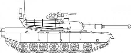 free vector M Abrams Main Battle Tank clip art