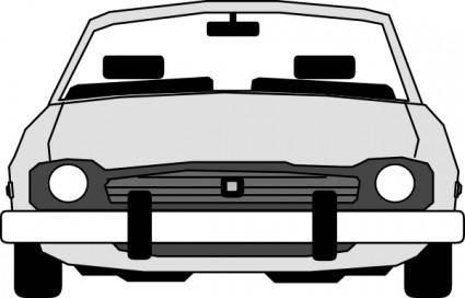 free vector Car Front View clip art