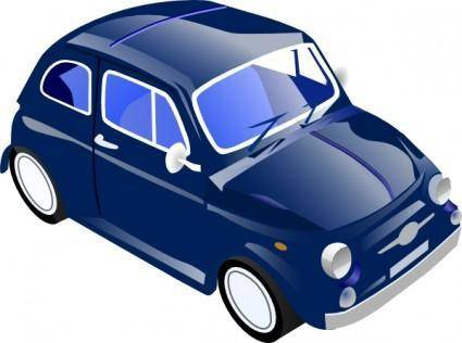 Little Small Car Saves Gas clip art