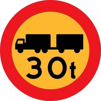 free vector T Truck Sign clip art
