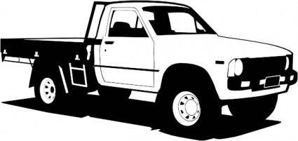 free vector Toyota Hilux clip art