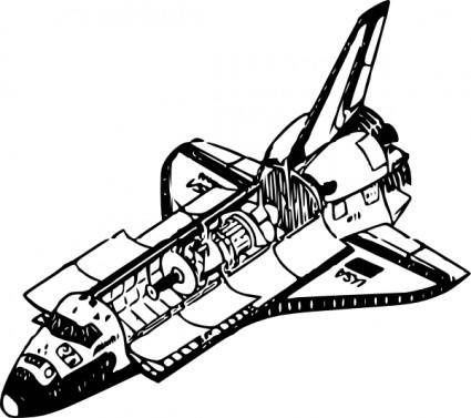 free vector Space Shuttle clip art