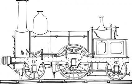 Steam Train Engine clip art