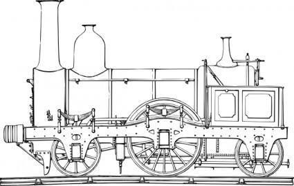 free vector Steam Train Engine clip art