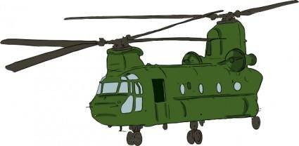 free vector Chinook Helicopter clip art
