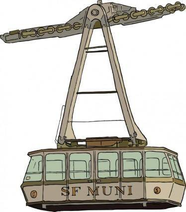 free vector Aerial Tramway clip art