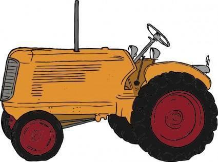 free vector Tractor clip art