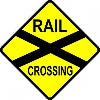 free vector Caution Railroad Crossing clip art