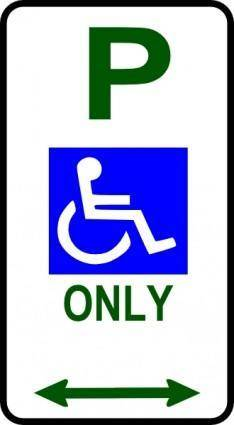 free vector Disabled Parking Sign clip art