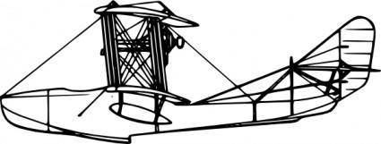 free vector Grigorovich M Aircraft Side View clip art