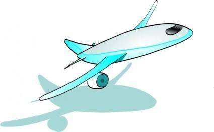 Plane Taking Off clip art
