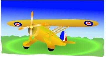free vector Propeller Plane clip art