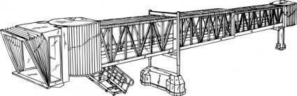free vector Airplane Paasenger Bridge clip art