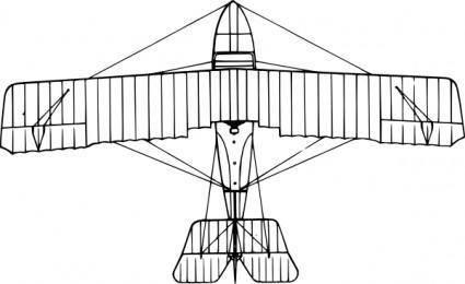 free vector Grigorovich M Aircraft Top View clip art