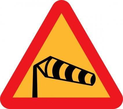 Windsock Pointing Right Sign clip art