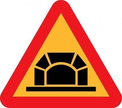 Tunnel Road Sign clip art