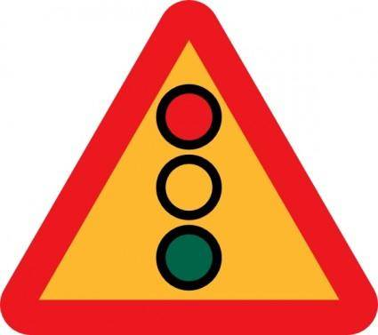 Traffic Lights Ahead Sign clip art