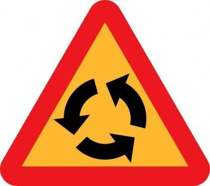 free vector Roundabout Sign clip art