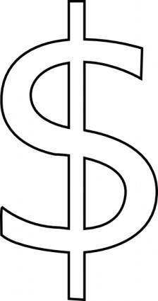free vector Rickvanderzwet Dollar Sign clip art
