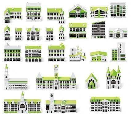 free vector Small green house vector