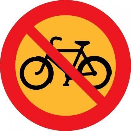 free vector No Bicycles Roadsign clip art