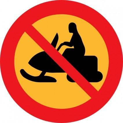 free vector No Snowmobiles Sign clip art