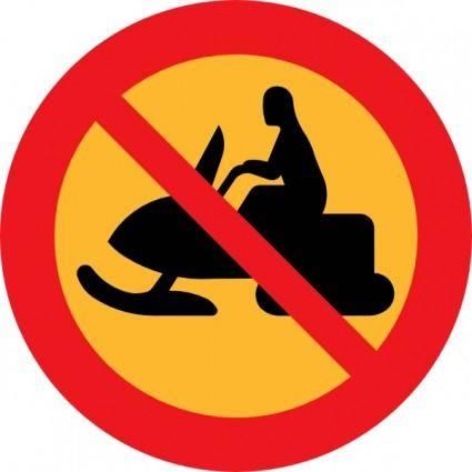 free vector No Snowmobiles Sign clip art