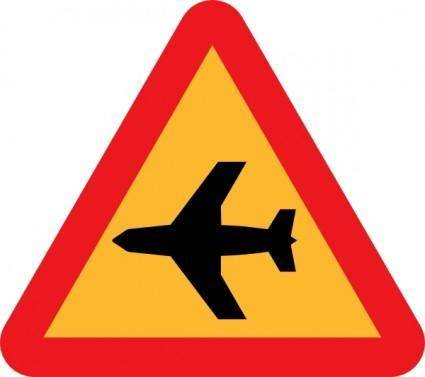 free vector Airplane Roadsign clip art