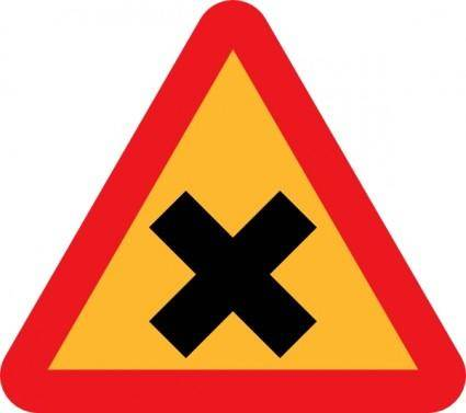 Cross Road Sign clip art