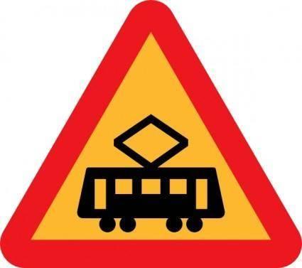 Tram Roadsign clip art