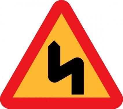 free vector Zig Zag Road Sign clip art
