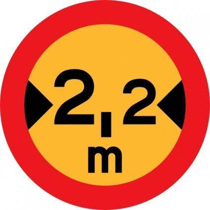 free vector 2.2m Sign clip art
