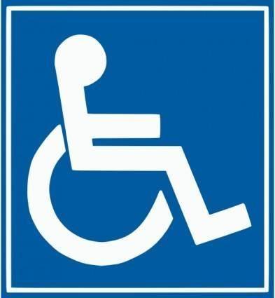 free vector Handicap Sign clip art
