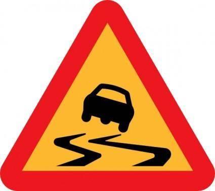 free vector Slippery Road Sign clip art